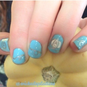 So This Is Love Cinderella Nails Wicked Splatters