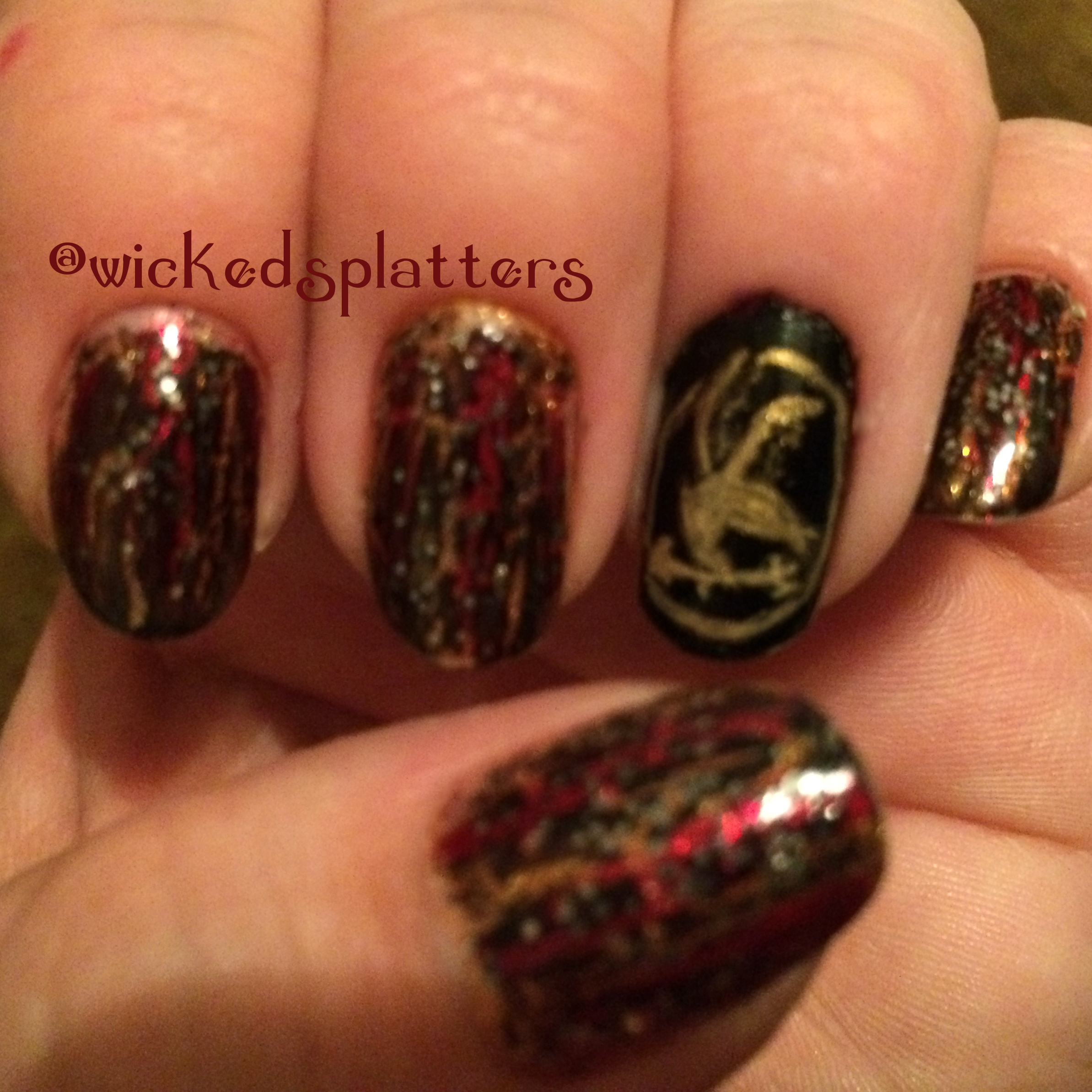 Mountain tattoo also katniss hunger games nail designs further creepy