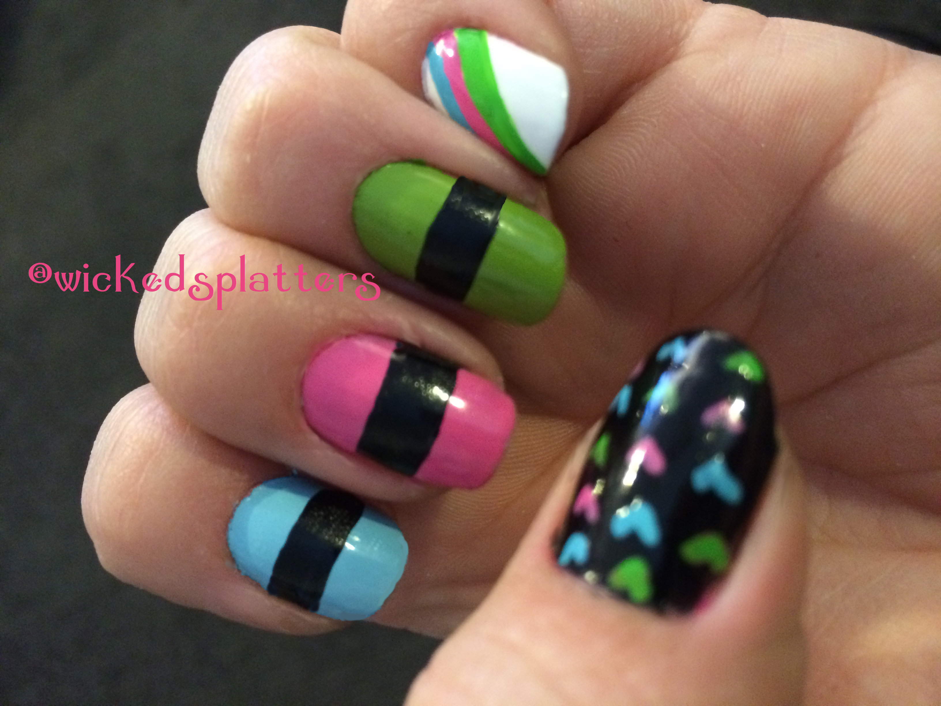Sugar Spice And Everything Nice Powerpuff Girl Nails Wicked