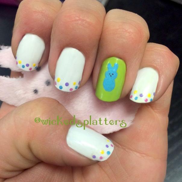 Easter Bunny Nail Art: Marshmallow Happiness – Peeps Nails