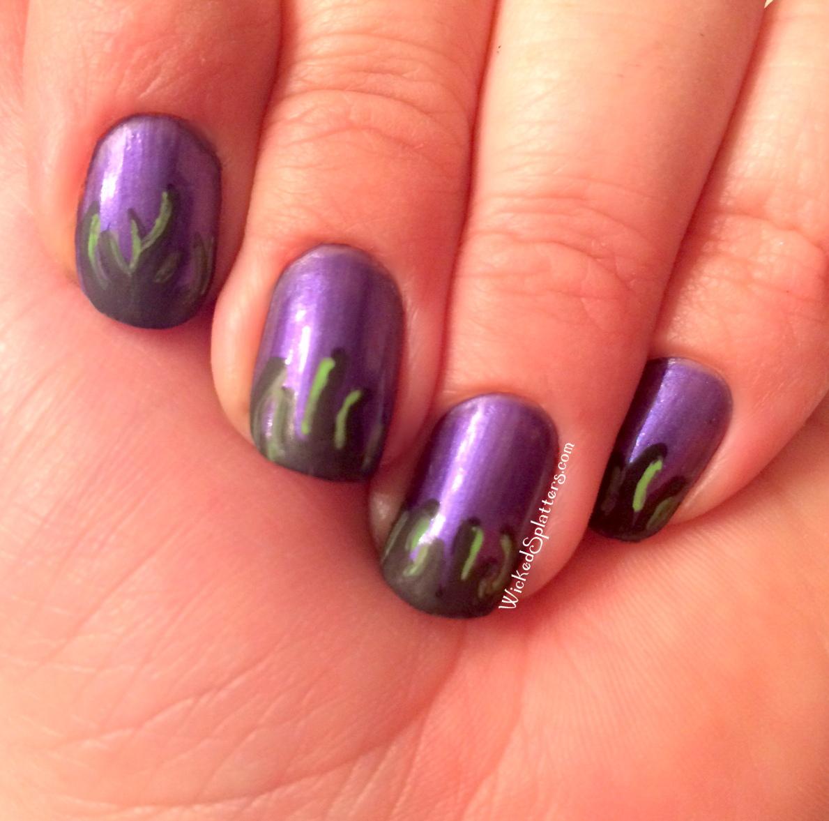 Sleeping Beauty Nails: Mistress Of Evil- Maleficent Nails