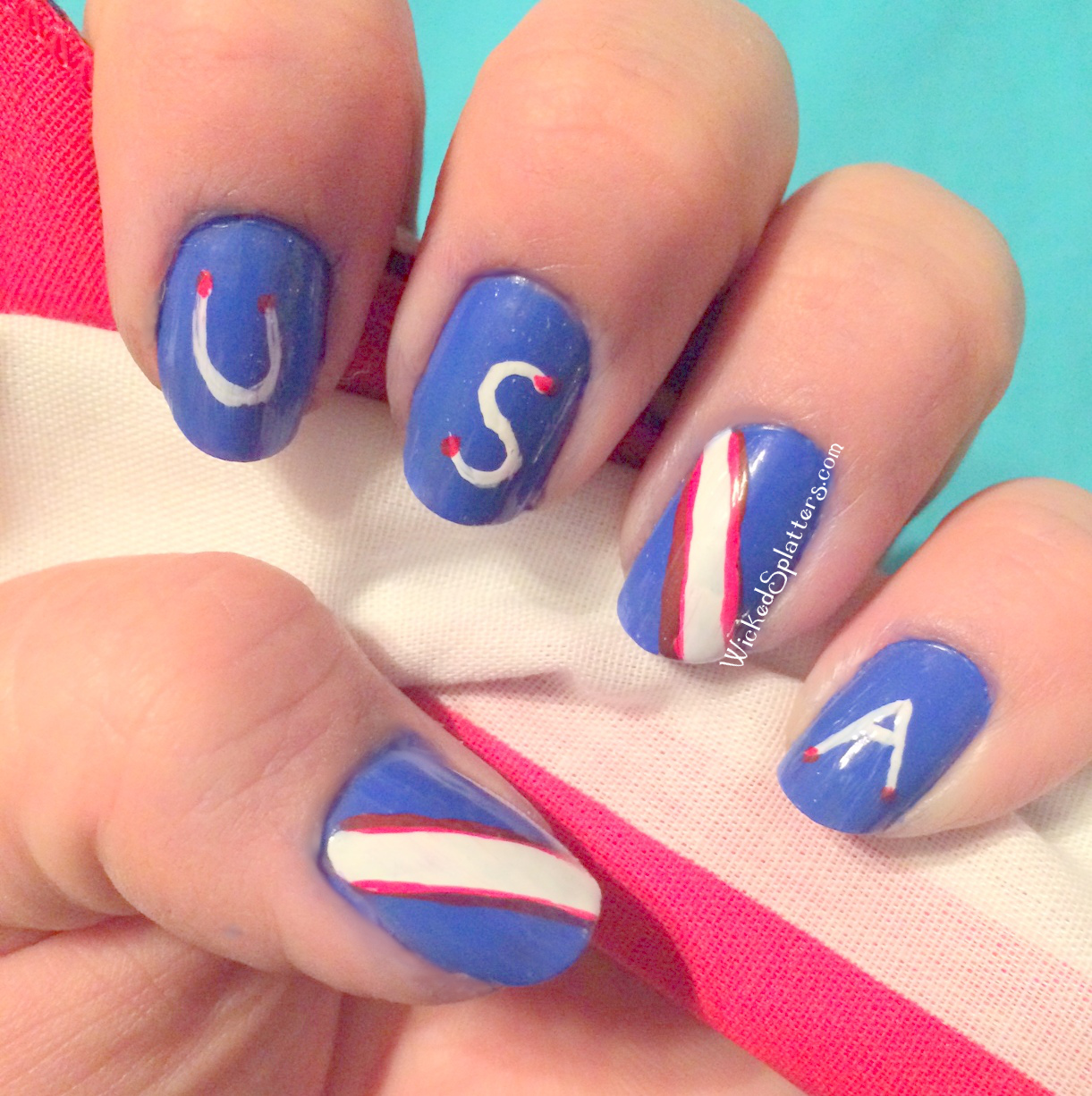 Usa Are You Ready Us Soccer Nails Wicked Splatters