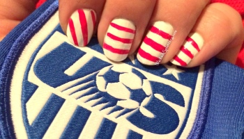 One Nation One Team Us Soccer Nail Art Wicked Splatters