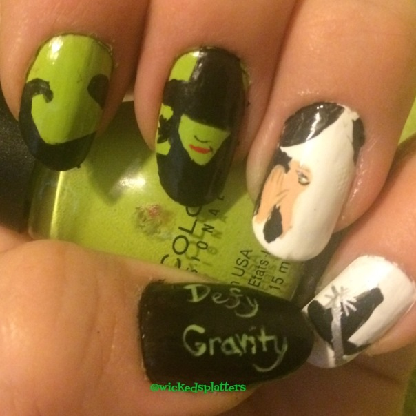 I Think Ill Try Defying Gravity Wicked Nail Art Wicked Splatters